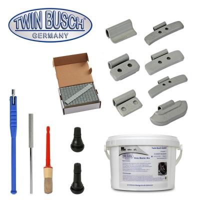 Confezione starter per montaggio pneumatici e macchine equilibratrici per pneumatici