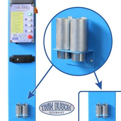 Ponte sollevatore a 2 colonne 5.0 t - Sblocco elettro-magnetico - Transito accessibile - HEAVY LINE