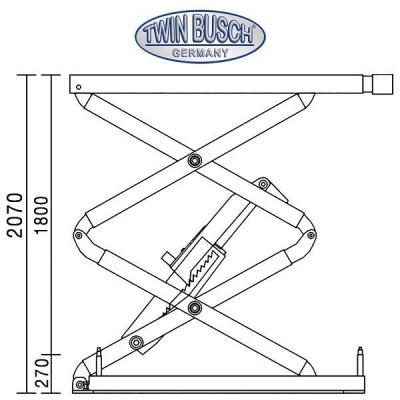 Ponte sollevatore a doppia forbice ribassato 3.0 t - Sotto terra