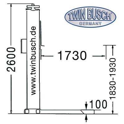 Ponte sollevatore a 1 colonna 2.5 t - fisso