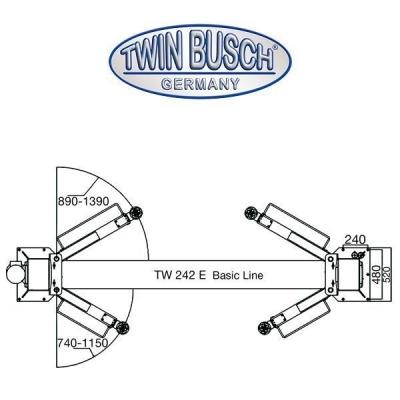Ponte a 2 colonne 4.2 t - BASIC LINE sblocco automatico