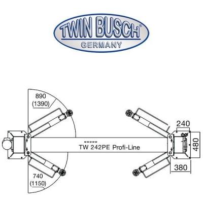 Ponte sollevatore a 2 colonne 4.2 t - Profi-Line