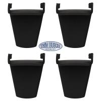 Set di 4 pezzi di protezione in plastica con pinza di serraggio (corta)
