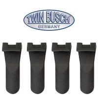 Set di 4 pezzi di protezioni in plastica con pinza di serraggio (lunga)