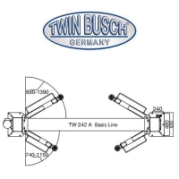 Ponte sollevatore a 2 colonne 4.2 t - BASIC LINE